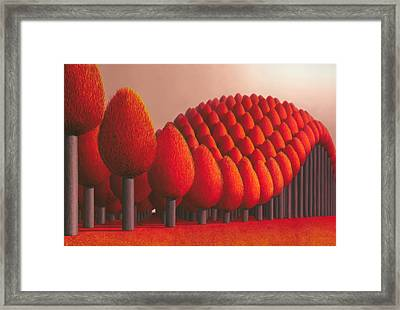 Populus Flucta Framed Print by Patricia Van Lubeck