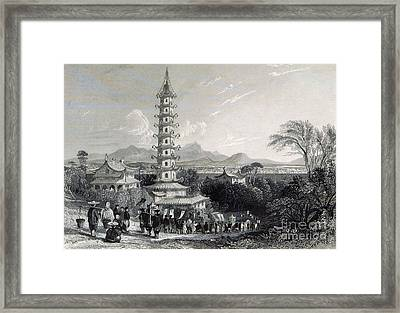 Porcelain Tower Of Nanjing, 19th Century Framed Print by British Library