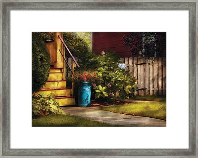 Porch - Summer Retreat Framed Print by Mike Savad