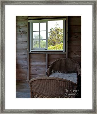 Porch Daybed Framed Print by Georgia Sheron