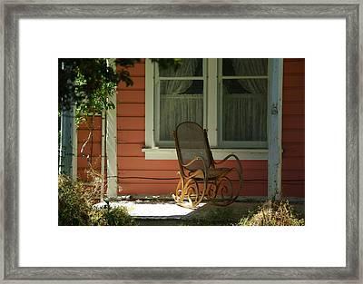 Porch Rocker Framed Print by Dale Stillman