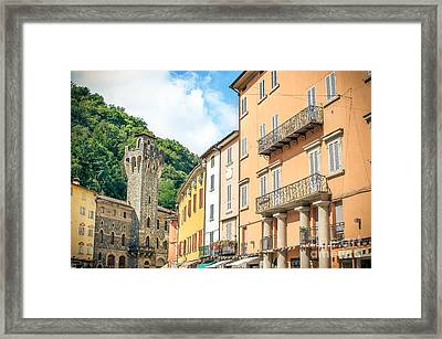 Porretta Terme, Bologna - Italy - August 2, 2015 - Colorful Buil Framed Print by Luca Lorenzelli