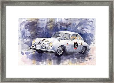 Porsche 356 Coupe Framed Print by Yuriy  Shevchuk