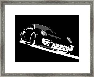 Porsche 911 Gt2 Night Framed Print by Michael Tompsett