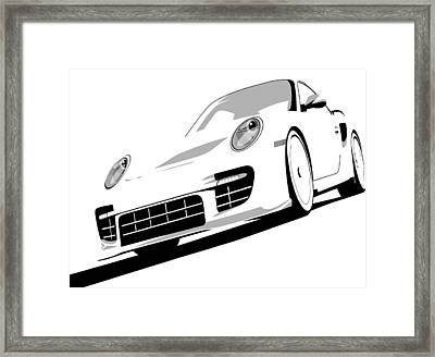 Porsche 911 Gt2 White Framed Print by Michael Tompsett