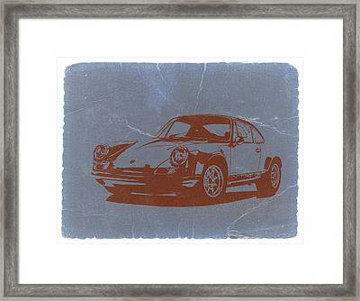 Porsche 911 Framed Print by Naxart Studio