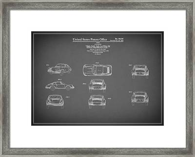 Porsche 911 Patent 1964 Framed Print by Mark Rogan