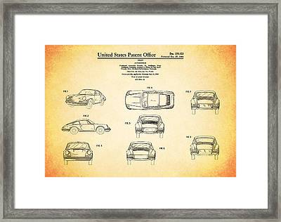 Porsche 911 Patent Framed Print by Mark Rogan