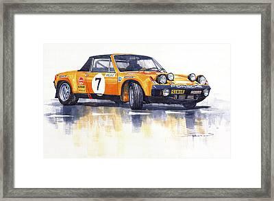 Porsche 914-6 Gt Rally Framed Print by Yuriy  Shevchuk