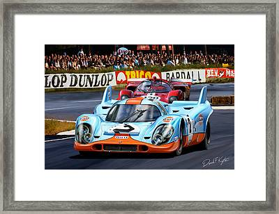 Porsche 917 At Le Mans Framed Print by David Kyte