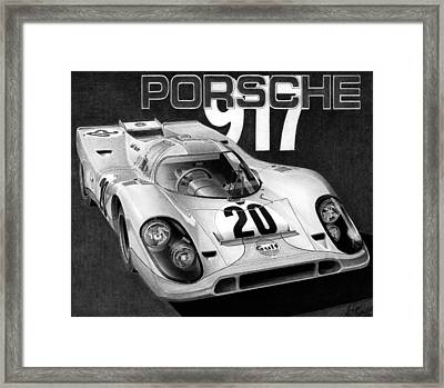 Porsche 917 Framed Print by Lyle Brown