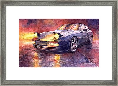 Porsche 944 Turbo Framed Print by Yuriy  Shevchuk
