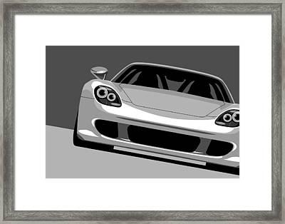 Porsche Carrera Gt Framed Print by Michael Tompsett