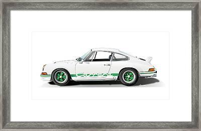 Porsche Carrera Rs Illustration Framed Print by Alain Jamar