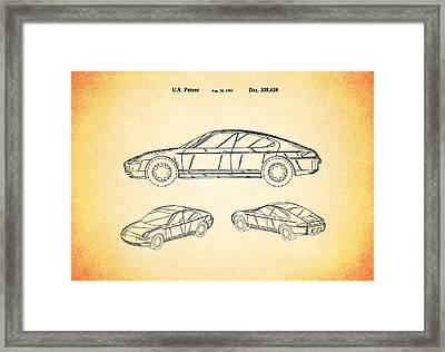 Porsche Patent 1993 Framed Print by Mark Rogan