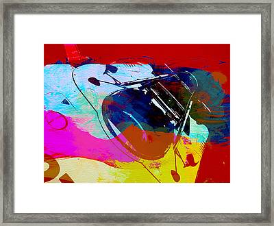 Porsche Watercolor Framed Print by Naxart Studio
