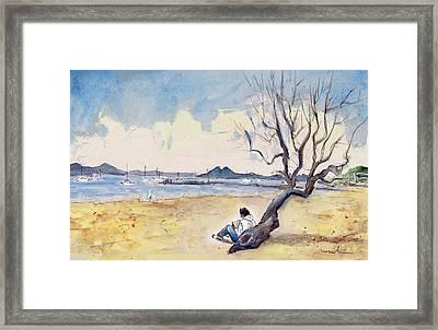 Port De Pollenca 01 Framed Print by Miki De Goodaboom