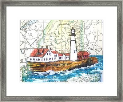 Port Head Lighthouse Maine Framed Print by Scott D Van Osdol