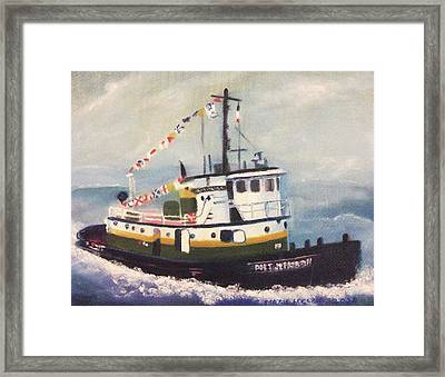 Port Jefferson Framed Print by Suzanne  Marie Leclair