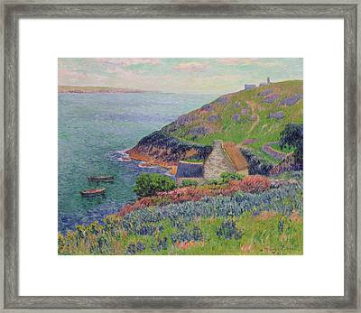 Port Manech Framed Print by Henry Moret