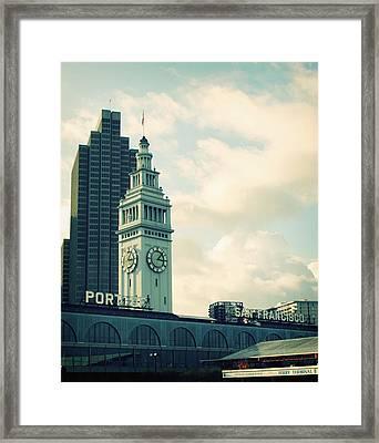 Port Of San Francisco Framed Print by Linda Woods
