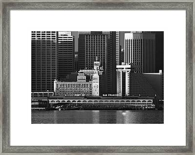 Port Of San Francisco Framed Print by Mick Burkey