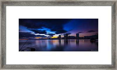 Port Of Spain New Sky Line  Framed Print by Marcus Gonzales