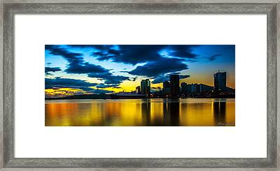 Port Of Spain Reflections  Framed Print by Marcus Gonzales