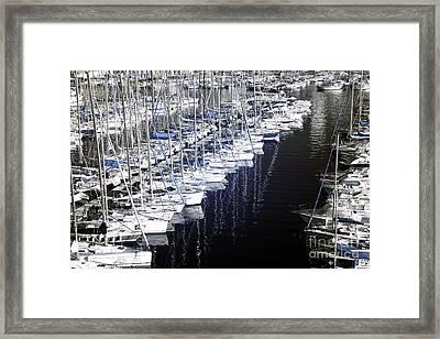 Port Parking Framed Print by John Rizzuto