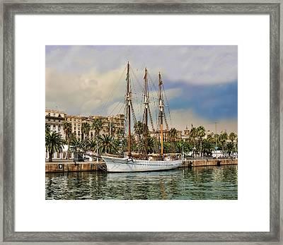 Port Vell  Near Barcelona Harbour Framed Print by Alex Hardie