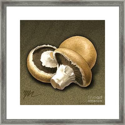 Portabello Mushrooms Framed Print by Marshall Robinson