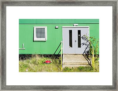 Portable Cabin Framed Print by Tom Gowanlock