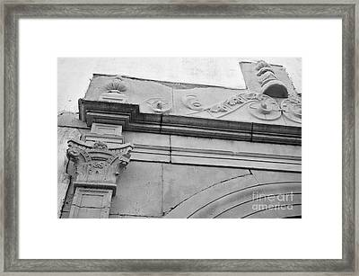 Portal Detail Of The Church Of Mercy In Tavira Framed Print by Angelo DeVal
