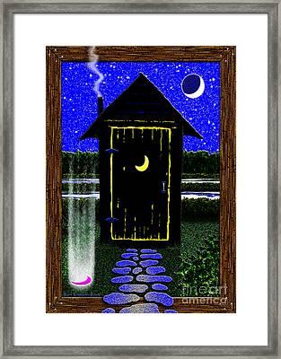 Portal Potty Framed Print by Cristophers Dream Artistry