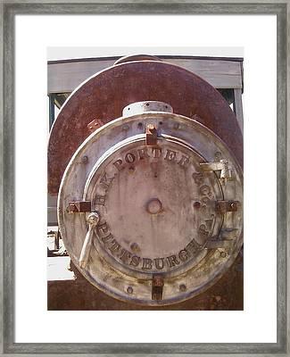 Porter Engine Framed Print by Lisa Wells