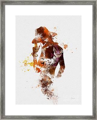 Portgas D. Ace Framed Print by Rebecca Jenkins