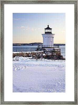 Portland Breakwater Lighthouse Framed Print by Eric Gendron
