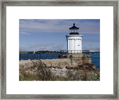 Portland Breakwater Lighthouse, Maine Framed Print by Capt Gerry Hare