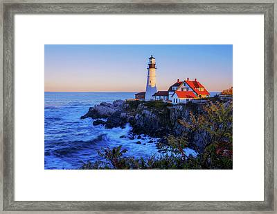 Portland Head Light II Framed Print by Chad Dutson