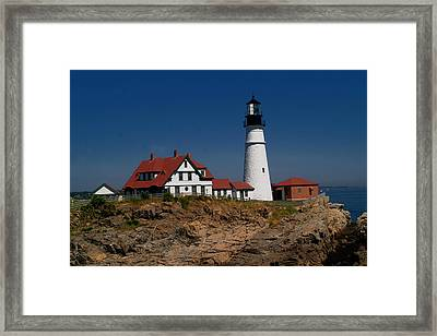 Portland Head Lighthouse Framed Print by Brad Hoyt