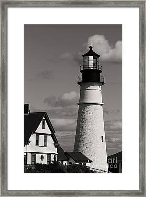 Portland Lighthouse Framed Print by Cindi Ressler