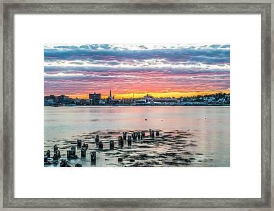 Portland Maine Sunset II Framed Print by Tim Sullivan