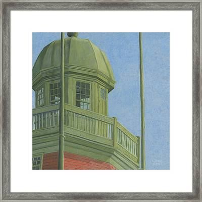 Portland Observatory In Portland, Maine Framed Print by Dominic White