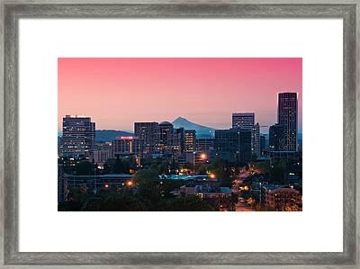 Portland Sunrise Framed Print by Brian Bonham