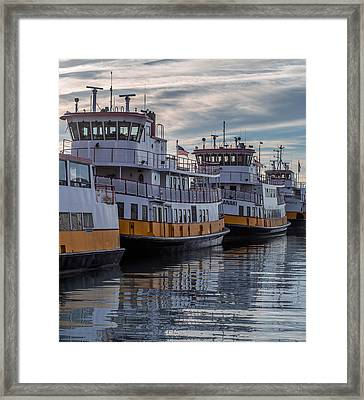 Portlands Casco Bay Lines Framed Print by Capt Gerry Hare