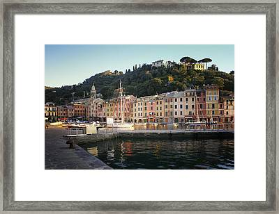 Portofino At Dawn Framed Print by Bob Snell