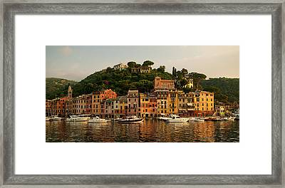 Portofino Bay Framed Print by Neil Buchan-Grant
