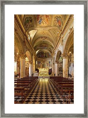 Portofino Church Framed Print by Brian Jannsen