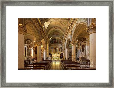 Portofino Church II Framed Print by Brian Jannsen