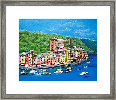 Portofino Framed Print by Edward Stotsky